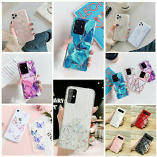 Glitter Marble Case For Samsung S20 S10 S9 S8 Plus A21s Leopard Print Thin Cover