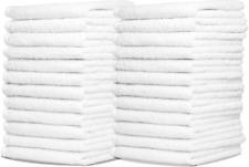Wash Cloth Towel Bulk Cotton 24 Pack Bath Kitchen Hotels Spa Gym Extra Absorbent
