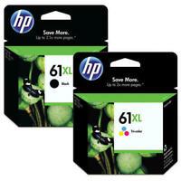 2x Genuine HP61XL Ink Cartridges Black+Colour For HP Deskjet 1050,2540,Envy 4500