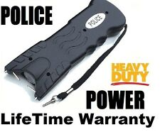 Police Black HIGH VOLTAGE HEAVY DUTY Stun Gun Light Self Defense Tazer holster