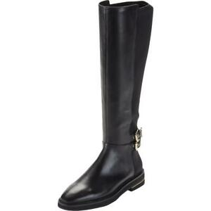 DKNY Womens Lena Boot Leather Buckle Solid Knee-High Boots Shoes BHFO 9035