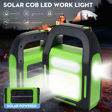 Solar Powered COB LED Work Light Rechargeable Flashlight Emergency Flood Lamp