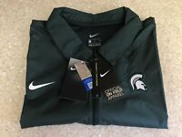Mens Nike Michigan State Spartans On Field 1/4 Zip Pullover Size L $70