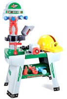 Childrens Work Bench Tool Shop Builder Drill Hat Role Play Set Kids Toy DIY 1133