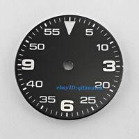 29mm sterile black watch Dial fit 2836/2824 2813/3804,Miyota 82 Series P884