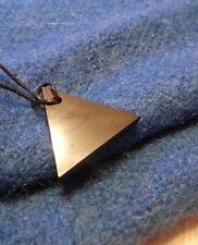 "Genuine Shungite Pendant ""Small Triangle men"". Rare shungites health stone"