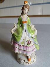Vintage Japan Victorian Colonial Brunette Woman Lady Figurine