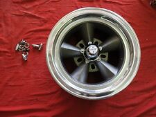 VINTAGE SINGLE  POLISHED LIP 15X7 TORQUE THRUST STYLE  5ON5 & 5 1/2 CHEVY FORD