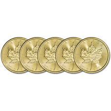2020 Canada Gold Maple Leaf 1 oz $50 - BU - Five 5 Coins