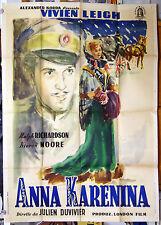 italian movie poster ANNA KARENINA Vivien Leigh Julien Duvivier 1948 Brini art