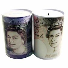 4 Pack Pound Note Design Piggy Bank Kids Money Change Savings Box Tin Toys