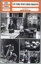 FICHE CINEMA : LES CINQ GENTLEMEN MAUDITS - Baur1931 The Five Accursed Gentlemen