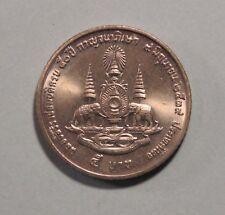 50th Year Reign King Bhumibol Adulyadej 1996 Rama IX Thailand 5 Baht Coin Siam