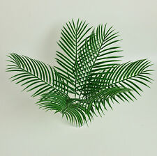 6X Green Palm Leaves Plastic Silk Fake Plant Artificial Leaf Home Party Decor US