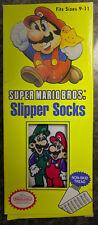 NEW Super Mario Bros Slipper Socks - Nintendo Luigi Rare Vintage Gift 90s Switch