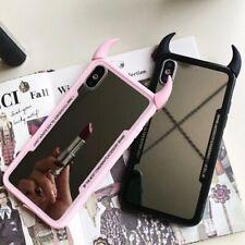 Luxury Mirror Phone Case For IPhone 7 6 6s 5 8 Plus Cute 3D Devil Horn