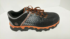 Timberland PRO Powertrain Sport Work Shoes, Grey/Orange, Men's 11.5 M