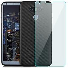 GLAS+ Ultra Slim Silikon Case für LG G6 Schutz Hülle Tasche Back Cover TPU Black