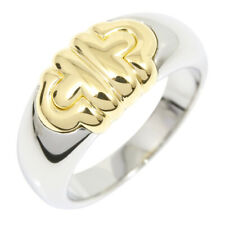 Auth BVLGARI 18K Yellow Gold SS Parentesi Ring US5.5 EU51 G1304