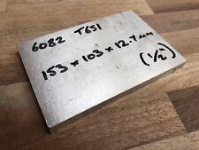 "ALUMINIUM 6082 T651 SQUARE BILLET 153 x 103 x 12.7mm flat bar sheet plate 1/2"""