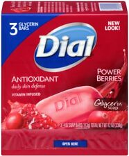 Dial Glycerin Soap Bars with Power Berries, 4 oz bars, 3 ea