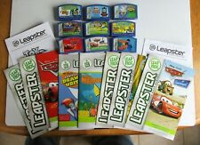 LOT OF 9 LEAPSTER LEARNING GAME CARTRIDGES W/ MANUALS.  PREOWNED (4696)