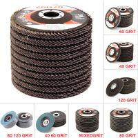 4.5'' 115mm Flap Discs Wheels Grinding Sanding 40 60 80 120 Grit Angle Grinder