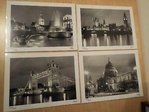 "4 Limited Edition 13.5"" x 10"" Art Photograph Prints Iconic London Night Sights"