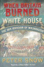 BURNING WHITE HOUSE British American War 1812-1814 Military History Burned USA