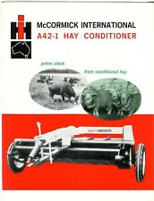 McCormick International A42-1 Hay Conditioner prime stock from conditioned hay b
