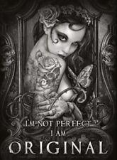 I'm Not Perfect I Am Original  small steel sign 200mm x 150mm (og)