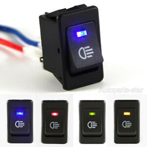 4-Pins LED On/Off Indicator Rocker Toggle Switch For Driving Fog Lamp/Work Light
