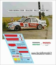 DECALS 1/43 FORD SIERRA COSW SAELENS RALLY YPRES 1992