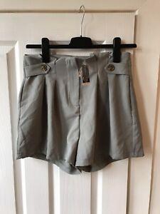 Select Shorts Size 12 Washed Short Khaki Paperbag Green New BNWT