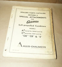 1967 Allis-Chalmers Combine Attachments Dealers Parts Catalog Manual Form D-39
