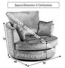 Swivel Chair 360 Rotate Cuddle Chair Single 1 seater Sofa Chair Chenille Fabric