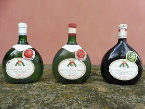 3 Bocksbeutel- Frankenwein 1990/1992, 0,75l ungeöffnet
