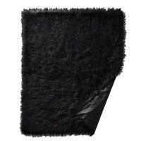 """Target Project 62 Mongolian Faux Fur Throw Black Blanket 50"""" x 60"""" Ebony Luxury"""