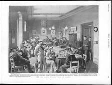 1895-antica stampa Italia Trieste MARINAI britannici SALA GIOCHI (137)
