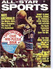 1974 All-Star Sports Basketball magazine, Nate Archibald, KC-Omaha Kings ~ Good
