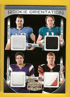 ANDY DALTON CHRISTIAN PONDER 4 ROOKIE JERSEY PATCH CARD JAKE LOCKER B GABBERT