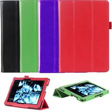 """Genuine Leather Folio Smart Case Cover For Kindle Fire HDX 8.9"""" inch Tablet"""