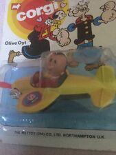 CORGI JUNIORS 1980 Popeye olio di oliva in aereo, imballaggio originale