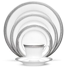Noritake China Crestwood Platinum 60Pc China Set, Service for 12