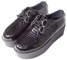 Park Lane Platform Crocodile Creepers Black / ASOS Women's US Size 5M NEW ONLY 1