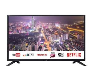 """SHARP AQUOS 32BC5E TV COLOR 32"""" LED BLACK - SmartTV 3HDMI 2USB DVB-T2/S2 Harman"""