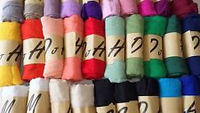 Joblot 30 pcs Plain Design Gauze scarf shawl sarong wholesale 180x95 cm Lot 21