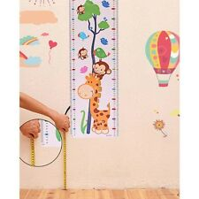 Hotsale Removable 1Pc Height Chart Growth Measure Decal Wall Sticker For Kids