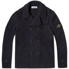 Stone Island Wool Pea Coat In Navy BNWT