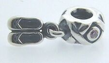 790520PCZ PANDORA STERLING SILVER BALLET SLIPPERS DANCER'S SHOES BEAD NEW IN BOX
